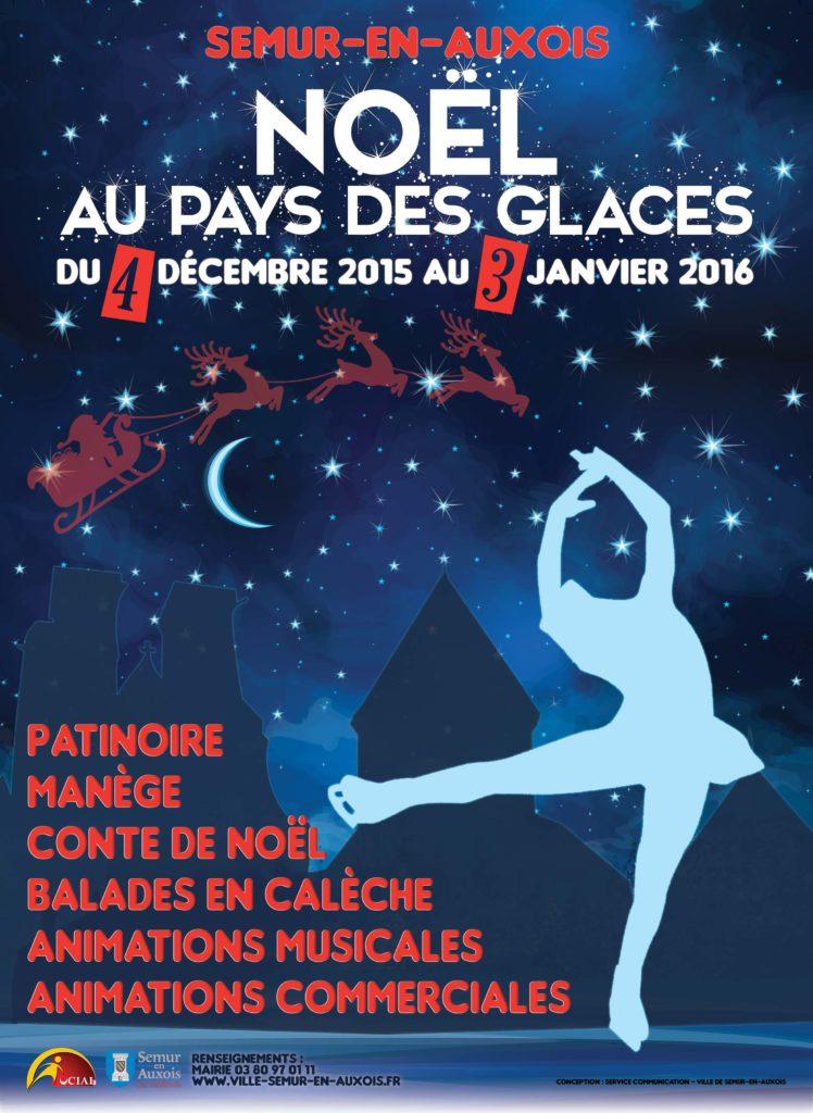 affiche-festivités de Noël-patineuse-aplatie